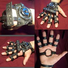 Would these be considered gauntlets or gloves?  I love this design, because it looks like it requires minimal leather, yet it has major impact - perhaps a more feminine version??