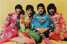 The Fab Four in their Sgt Pepper costumes - courtesy of Psychedelic-Sixties on tumblr.