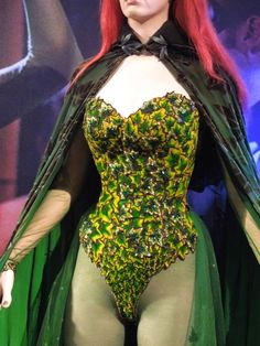 Poison Ivy leaf corset detail Batman & Robin