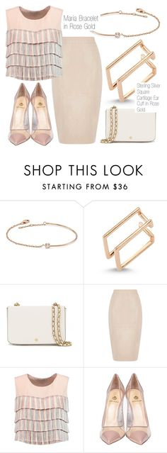 """Dusty Rose"" by amorium ❤ liked on Polyvore featuring Amorium, Tory Burch, Oasis, Alexis, Semilla and rose"