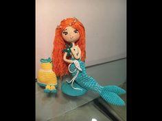 Muñeca Sirena en amigurumi DIY español - Patrones gratis Crochet Mermaid, Crochet Baby, Free Crochet, Amigurumi Tutorial, Crochet Amigurumi Free Patterns, Crochet Doll Clothes, Crochet Dolls, Mermaid Toys, Tunisian Crochet