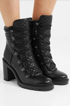newest 6e55d 77ec8 Christian Louboutin - Mad 70 spiked quilted leather ankle boots
