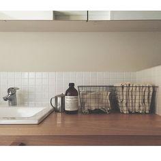 Bathroom/洗面台/アンティーク/ワイヤーバスケット/ワイヤーかご/洗面所 収納...などのインテリア実例 - 2015-02-23 04:42:25