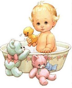 BATHING BABY IN TUB