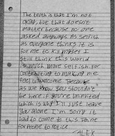 Depressed Love Letters