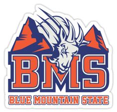 """""""BMS - Blue Mountain State"""" Stickers by crawler-arts   Redbubble"""