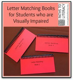 These Braille Letter Matching Books are a great way for students to review!
