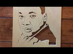 Martin Luther King Jr scroll saw portrait