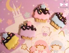 Cute cupcake rings. Kawaii Jewelry, Cute Cupcakes, Cute Charms, Book Illustration, Jewelry Box, Fabrics, Children, Rings, Books