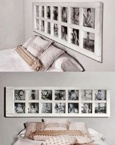 best creative headboard for bedroom ideas 2020 18 Fall Home Decor, Autumn Home, Cheap Home Decor, Diy Home Decor, Door Picture Frame, Collage Picture Frames, Diy Casa, Old Doors, Home Projects