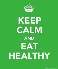 Don't stress, don't trip out, don't freak out, relax and eat well.