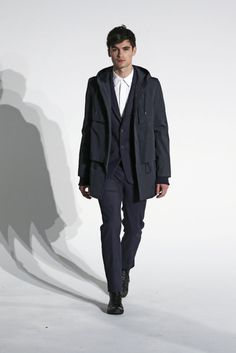 At New York Men's Day, American Menswear Gives Its State of the Union Address Men's Day, New York Mens, State Of The Union, Fall 2015, Raincoat, Menswear, American, Fashion, Rain Jacket