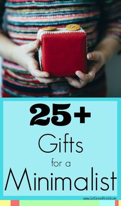 When someone says they don't want any gifts, don't believe them. Even minimalists want a present. Love this gift guide for unique and practical things to give to a minimalist or someone who has everything!