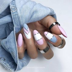 Chic Nails, Stylish Nails, Trendy Nails, Manicure Nail Designs, Nail Manicure, Gel Nails, Almond Acrylic Nails, Best Acrylic Nails, Romantic Nails
