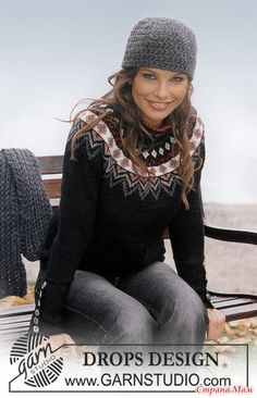 Ravelry: a - Pullover in Karisma Superwash pattern by DROPS design Drops Design, Fair Isle Knitting, Free Knitting, Knitting Yarn, Jumper Patterns, Knitting Patterns, Tejido Fair Isle, Icelandic Sweaters, Dressy Attire