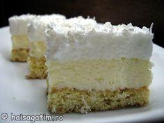 Prajitura Nașa – Orice musafir o va aprecia – Bucataria Noastra Romanian Desserts, Romanian Food, Yummy Treats, Sweet Treats, Yummy Food, Dessert Drinks, Food Cakes, Cream Cake, Coco