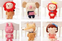 Price: RM 49 each Product Name: 韩国森林家族hello geeks治愈系公仔 Korea Forest Family hello geeks toy doll Code: LRZ/DOLL/0009 • 颜色分类: 小考拉(cozy)/ 小女孩 (lucy/ 小狐狸(Nicola) /小猴子(rey)/ 小兔子(dona)/ 小狮子(Rao) • 材质: 毛绒 • 填充物: PP棉 • 高度: 34厘米左右 • Colour: Koala(cozy)/ Girl (lucy/ Fox (Nicola) / Monkey (rey)/ Rabbit(dona)/ Lion(Rao) • material: Plush • Filling material: PP cotton • height: about 34cm Product Source : 嘟嘟小福仙玩具礼品屋