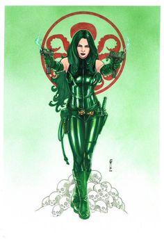Madame Hydra - Viper by Garrie Gastonny Marvel Comic Universe, Comics Universe, Marvel Art, Marvel Heroes, Comic Book Girl, Comic Books Art, Comic Art, Dragon Ball Z, Hydra Marvel