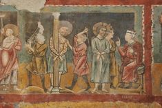 Terzo Maestro di Anagni ? - Flagellazione - affresco - XIII sec. - Chiesa di San Pietro in Vineis,  Anagni  (Frosinone, Italia)
