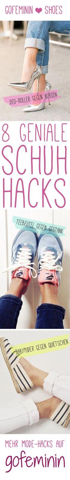 8 GENIALE Schuh Hacks: http://www.gofeminin.de/styling-tipps/schuh-hacks-s1428625.html #shoes #hacks #lifehacks #shoehacks