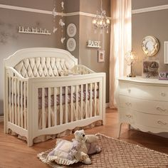 "Both elegant and functional, the Allegra ""4-in-1"" Convertible Crib will gain new life long after your little one has outgrown his or her crib."