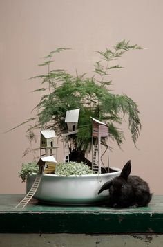 DIY | ontwerpduo cottage town small world bunny