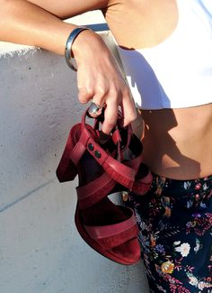 Elegance Crossed Cherry Sandals