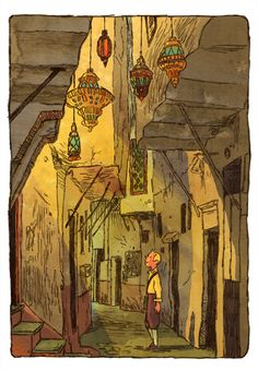 Tintin in Tangier by ~JakeWyatt. I love finding pins from people I know. This guy is the raddest artist. Definitely look at his stuff!!!