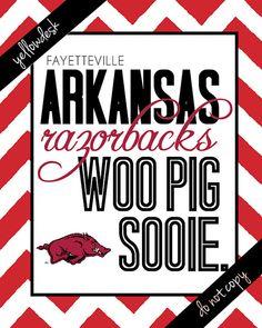 Arkansas Razorback Spirit Poster