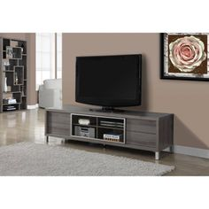 "Monarch Tv Stand Dark Taupe Euro Style For TVs Up To 70""L"