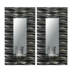 Elements+2-piece+Mirror+Wall+Sconce+Set