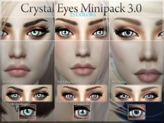 The Sims Resource: Crystal Eyes Minipack 3.0 - 3 Eyes by PralineSims • Sims 4 Downloads