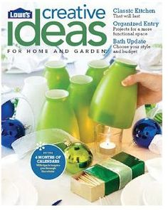 Sign up for a free subscription to Lowe's Creative Ideas magazine. It is full of home décor ideas, home improvement projects and step-by-step how-to information.   Thanks, Freebies 4 Mom!