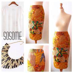 Diaz ankara pencil skirt African print skirt by Sosomeshop on Etsy https://www.etsy.com/listing/251294970/diaz-ankara-pencil-skirt-african-print