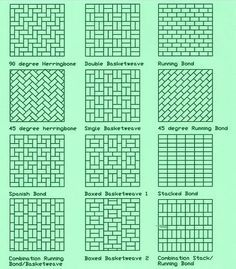 image result for patio paver patterns 2 sizes garden and yard