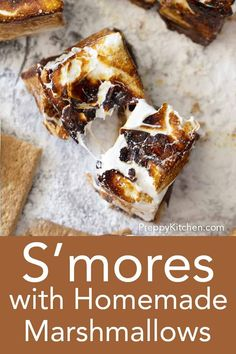 Homemade Chocolate Frosting, Easy Chocolate Desserts, Homemade Marshmallows, Chocolate Recipes, Fun Desserts, Delicious Desserts, Summer Treats, Best Dessert Recipes, Graham Crackers