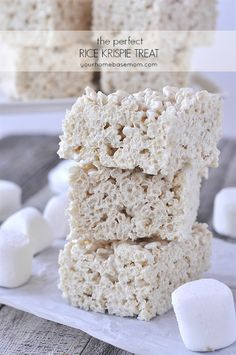 How to Make the Perfect Rice Krispie Treats