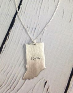 Handstamped Love Indiana Necklace