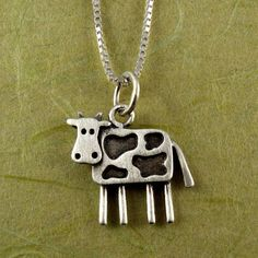 Hey, I found this really awesome Etsy listing at https://www.etsy.com/listing/93200936/cow-necklace