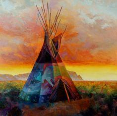 View the Western Art and Native American Art by Colt Idol Native American Teepee, Native American Paintings, American Indian Art, Indian Paintings, American Indians, Southwestern Paintings, Southwest Art, Robin, Western Art