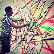 Image result for tape art murals