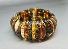 29,7 grams Genuine Big Natural Baltic Amber Bracelet No Enhancement Multicolor #Handmade