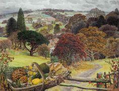 "Ladybird artist Stanley Roy Badmin, ""November"" (c. Landscape Art, Landscape Paintings, Landscapes, Landscape Tattoo, Best Jigsaw, Trees And Shrubs, Beautiful Paintings, Travel Posters, Illustrators"