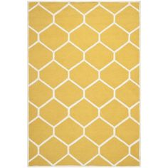 Safavieh Contemporary Handmade Moroccan Cambridge Gold/ Ivory Wool Rug (8' x 10') - Overstock™ Shopping - Great Deals on Safavieh 7x9 - 10x14 Rugs