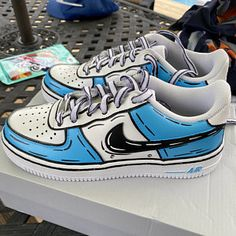 Custom Sneakers, Custom Shoes, Air Force 1, Nike Air Force, Baddie Outfits Casual, Cowgirl Outfits, Painted Shoes, Your Shoes, Sneakers Fashion