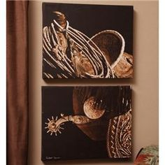 Pictures on canvas #western #decor I'm such a sucker for western art