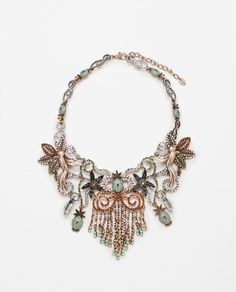 FLOWERS, BIRDS AND PINEAPPLE NECKLACE-ACCESSORIES-WOMAN-SALE | ZARA United States