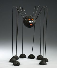 Spider made out of wire hangers and Styrofoam balls