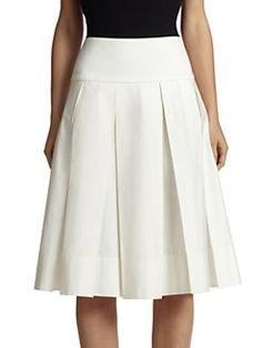 Donna Karan - Pleated Full Skirt