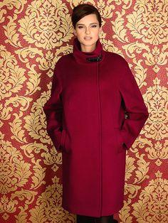 Пальто женское м. 10138711 ворс цв. бургундский